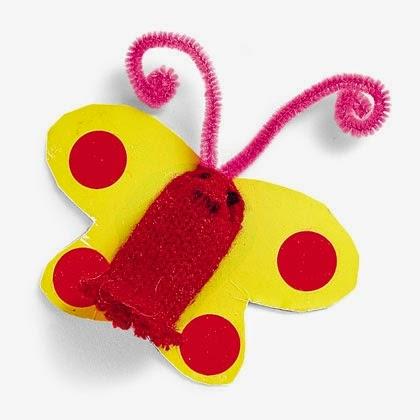Бабочка для малышей поделка 62