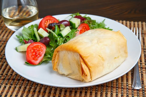 Lamb Exohiko (Lamb, Spinach and Cheese Stuffed Phyllo Parcels) on ...