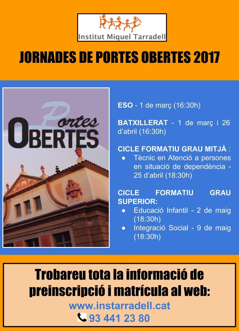 PORTES OBERTES 2017