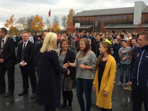 Crown Princess Mette-Marit visited Trivselslederne at Runni Comprehensive School.