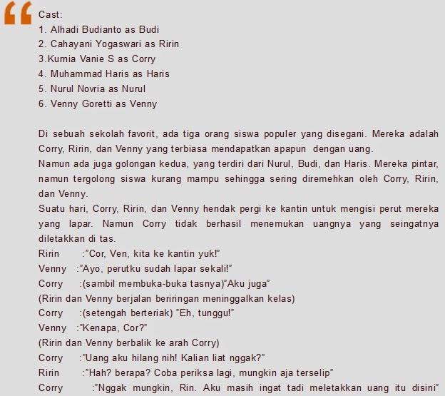 Contoh Naskah Drama 6 Orang Salah Paham 2019 Kumpulan Contoh Surat
