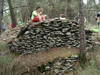 El que queda de la barraca de vinya dels Solells de Vilaterçana