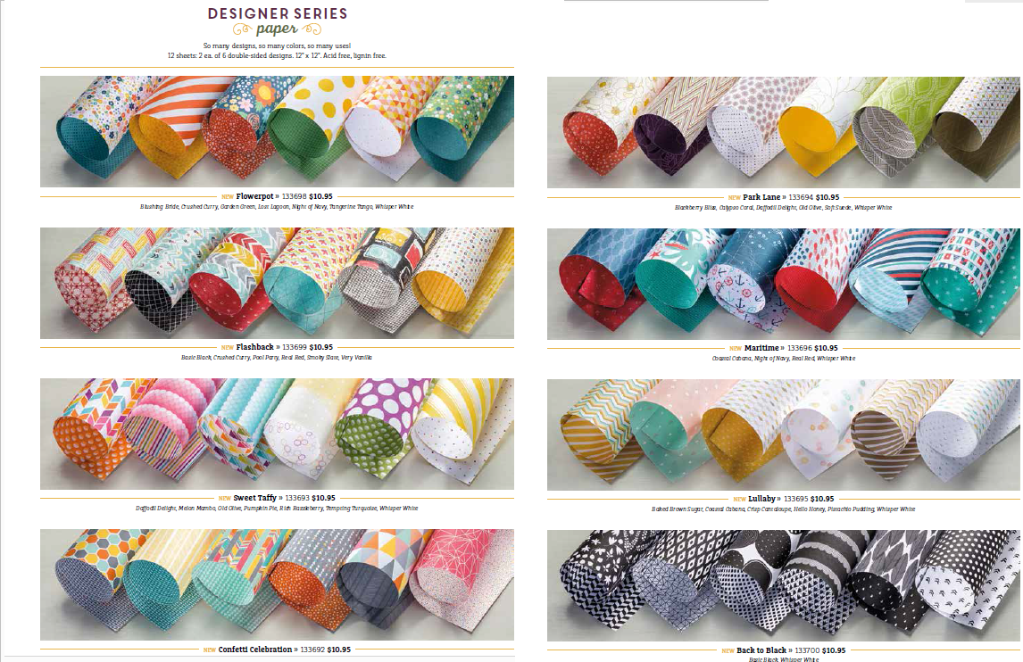 Stampin'UP!'s 2014 DSP Designer Series Print Papers