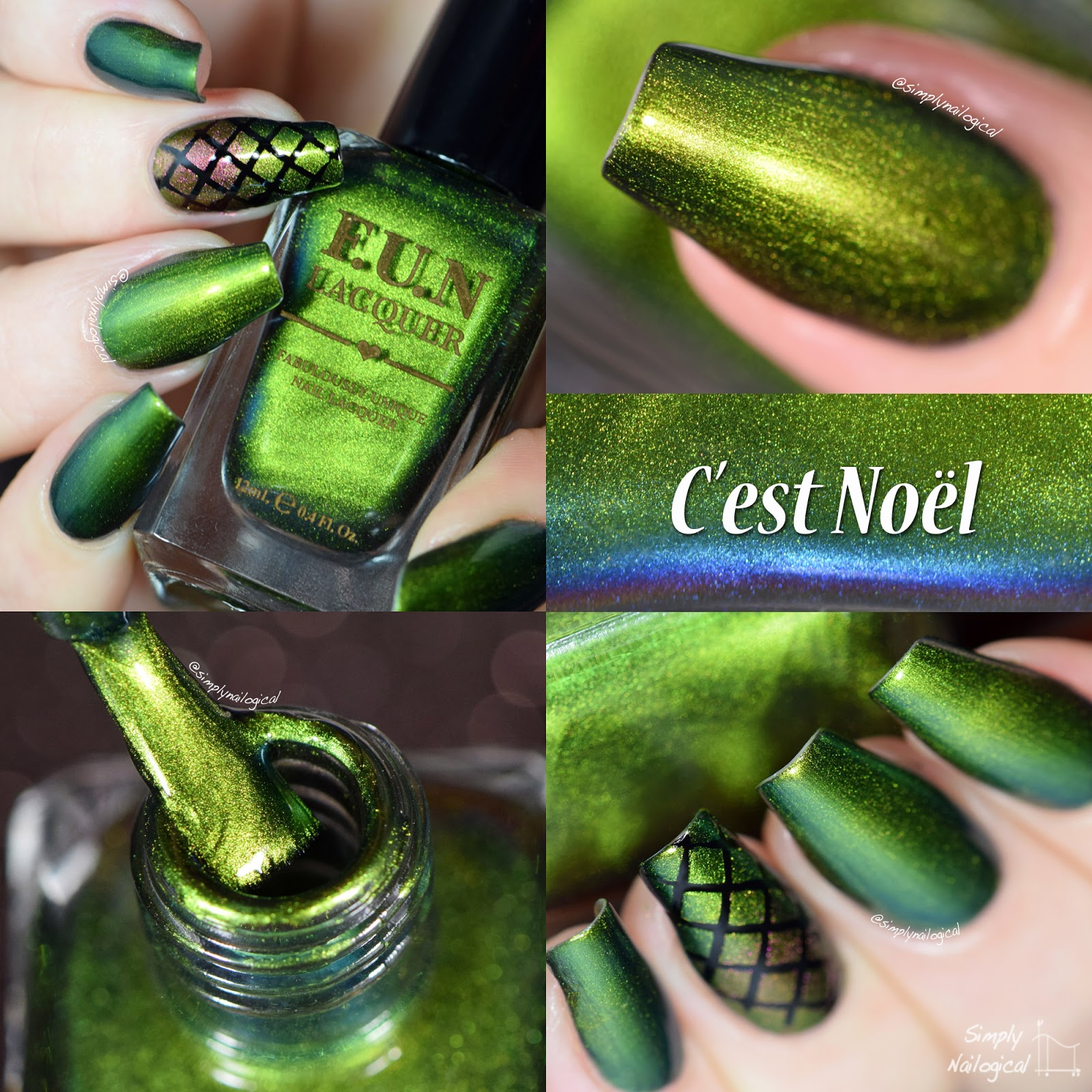 FUN Lacquer Christmas 2014 collection - C'est Noel swatch