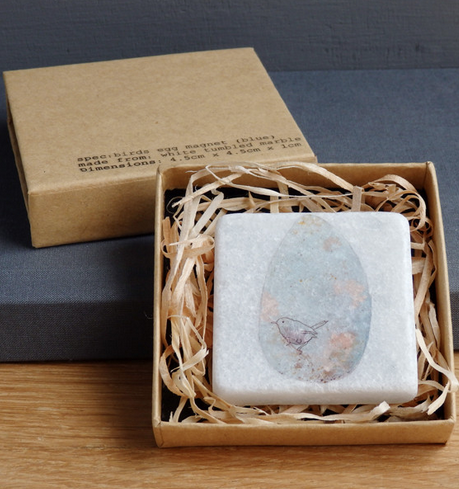 littlebirdy designs Marble Bird's Egg Tile