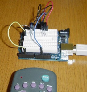 biblioteca controle remoto com Arduino