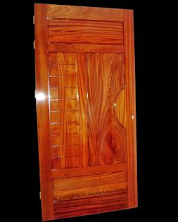 porte d 39 entr e d 39 appartement moderne en bois massif acajou tunisie soci t meubles jemour. Black Bedroom Furniture Sets. Home Design Ideas
