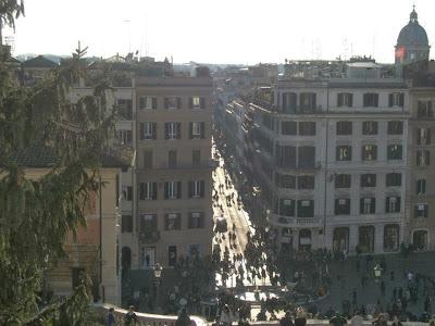 Panorama dalla Scalinata su Via Condotti