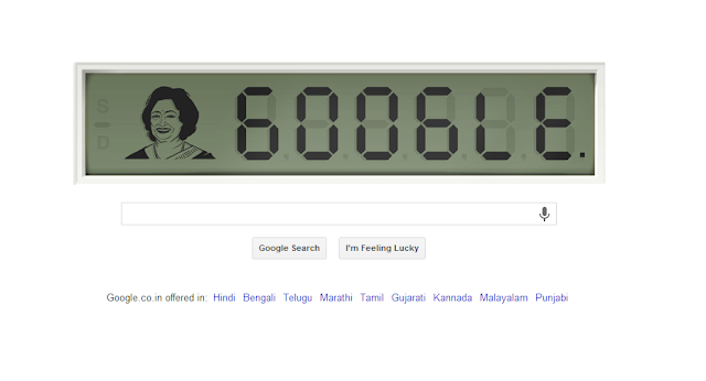 Google celebrating Shakuntala Devi Birthday with a Doodle