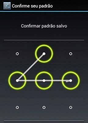 Coloque senha em seu Android - 288x400