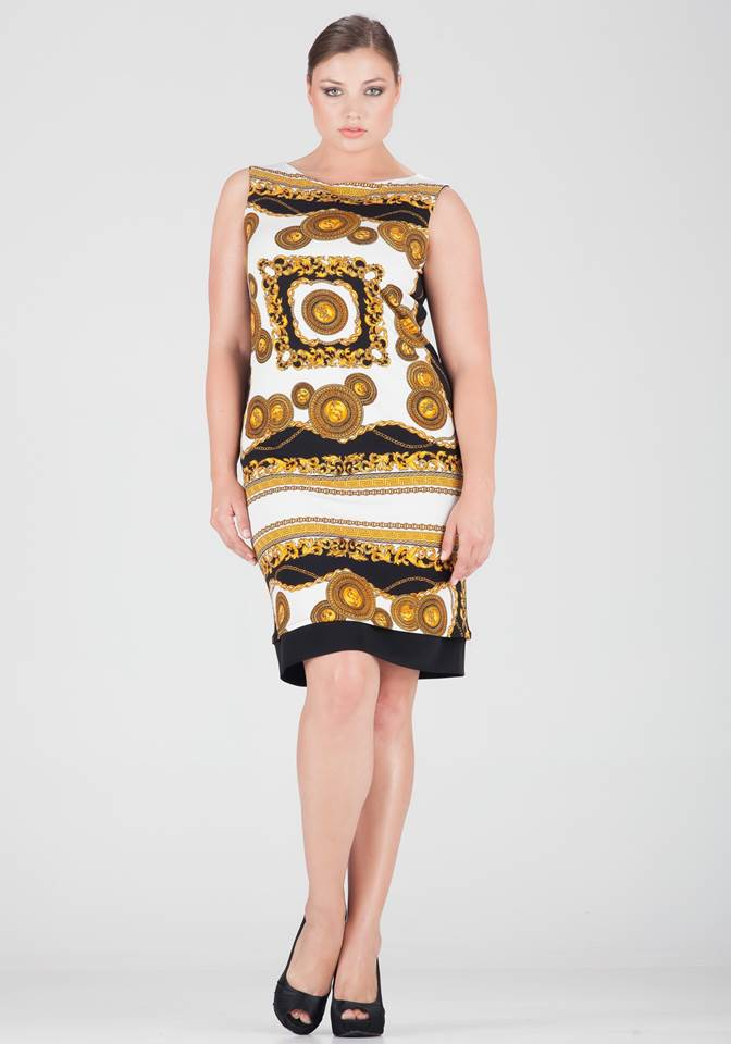 Plus size high fashion, Eva Varro, Versace