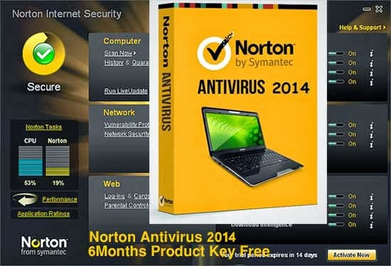Norton Antivirus 2014 Product Key Free License