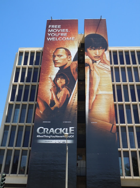 Crackle Ultraviolet movie billboard