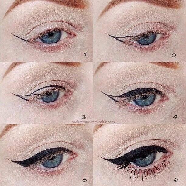 Правильные стрелки на глазах пошаговое