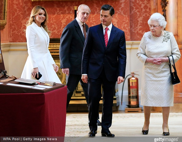 Queen Elizabeth II and The Duke of Edinburgh, First Lady of Mexico Angela Rivera and President of Mexico Enrique Pena Nieto at Buckingham Palace