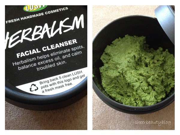 a picture of lush facial cleanser herbalism