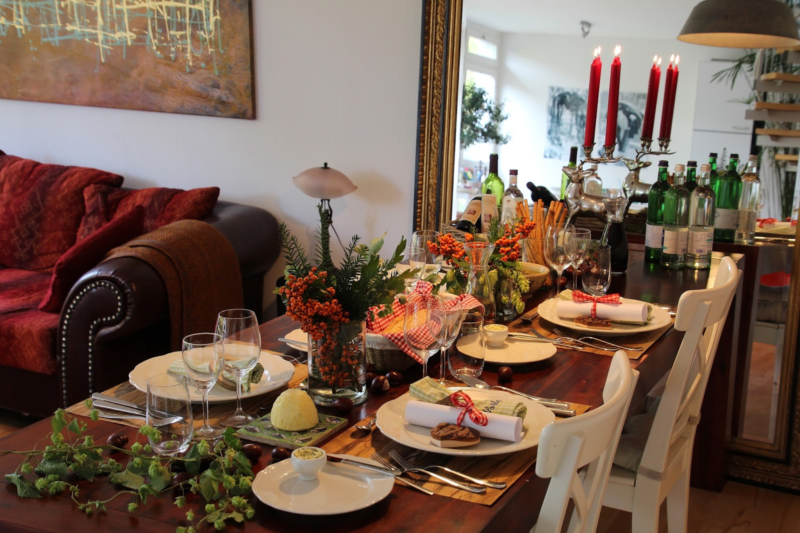 Stadtlandlebenslust herbstliche tischdeko Tischdeko im januar
