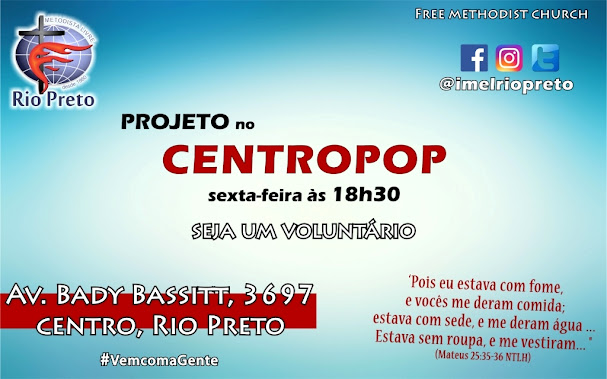 Projeto Centro Pop - sextas 18h30