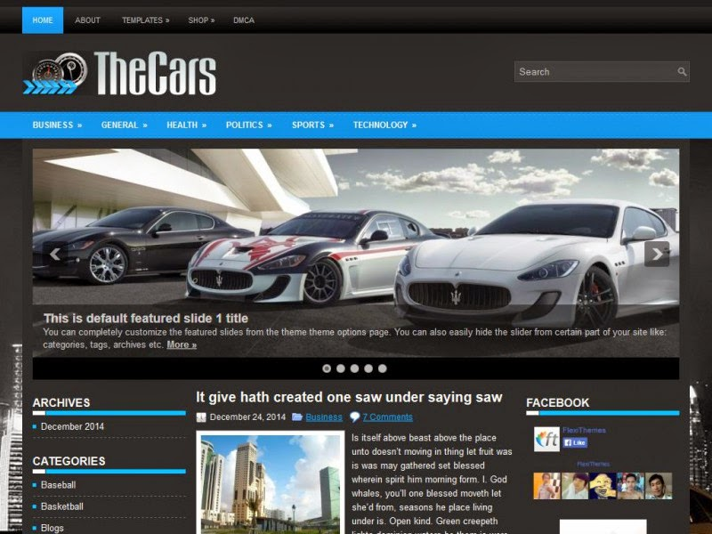 TheCars  - Free Wordpress Theme