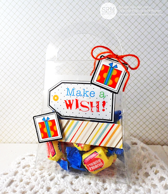 SRM Stickers Blog - Birthday Celebration by Lesley - #birthday #giftset #card #stickers #clearpurse #solidtwine #giftset #DIY