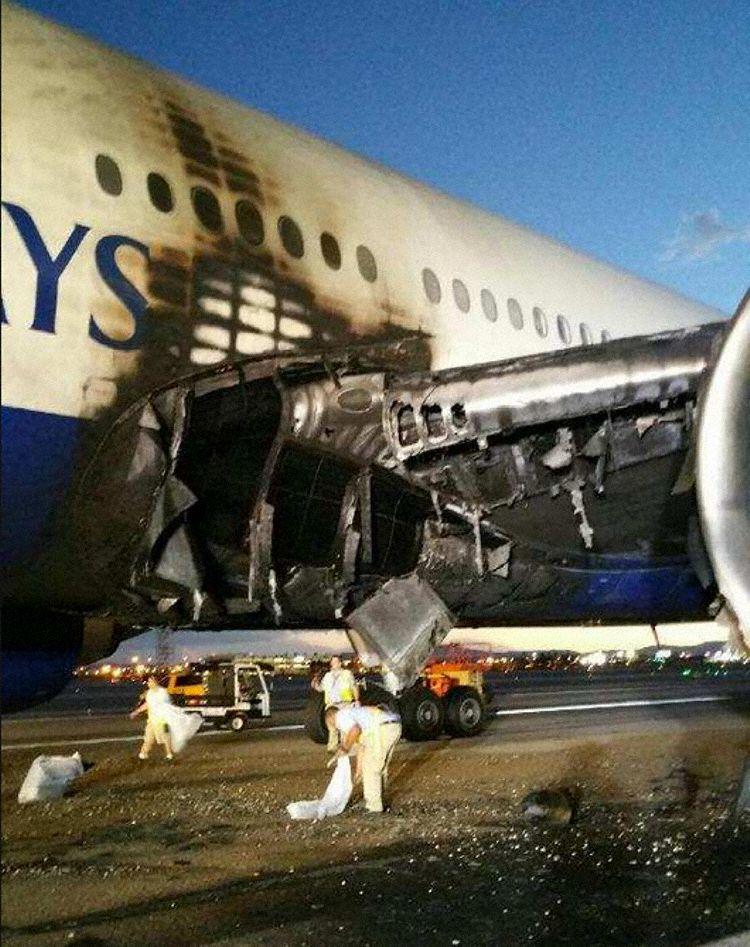 É MAIS QUE VOAR | FOTOS | Acidente com o 777 da British Airways em Las Vegas