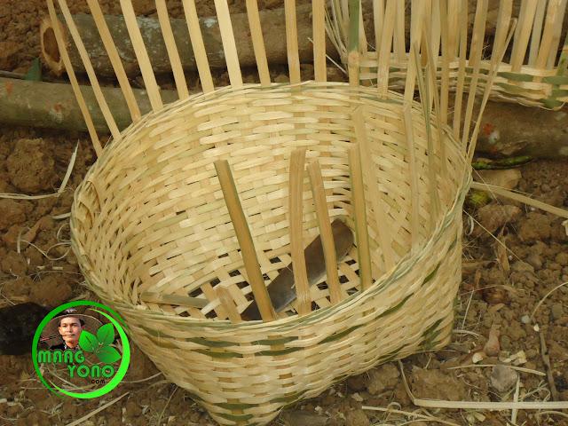 FOTO : Carangka bambu menggunakan anyaman tunggal