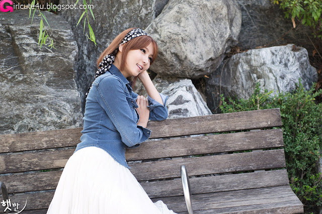 2 Jang Jung Eun - Outdoor-very cute asian girl-girlcute4u.blogspot.com