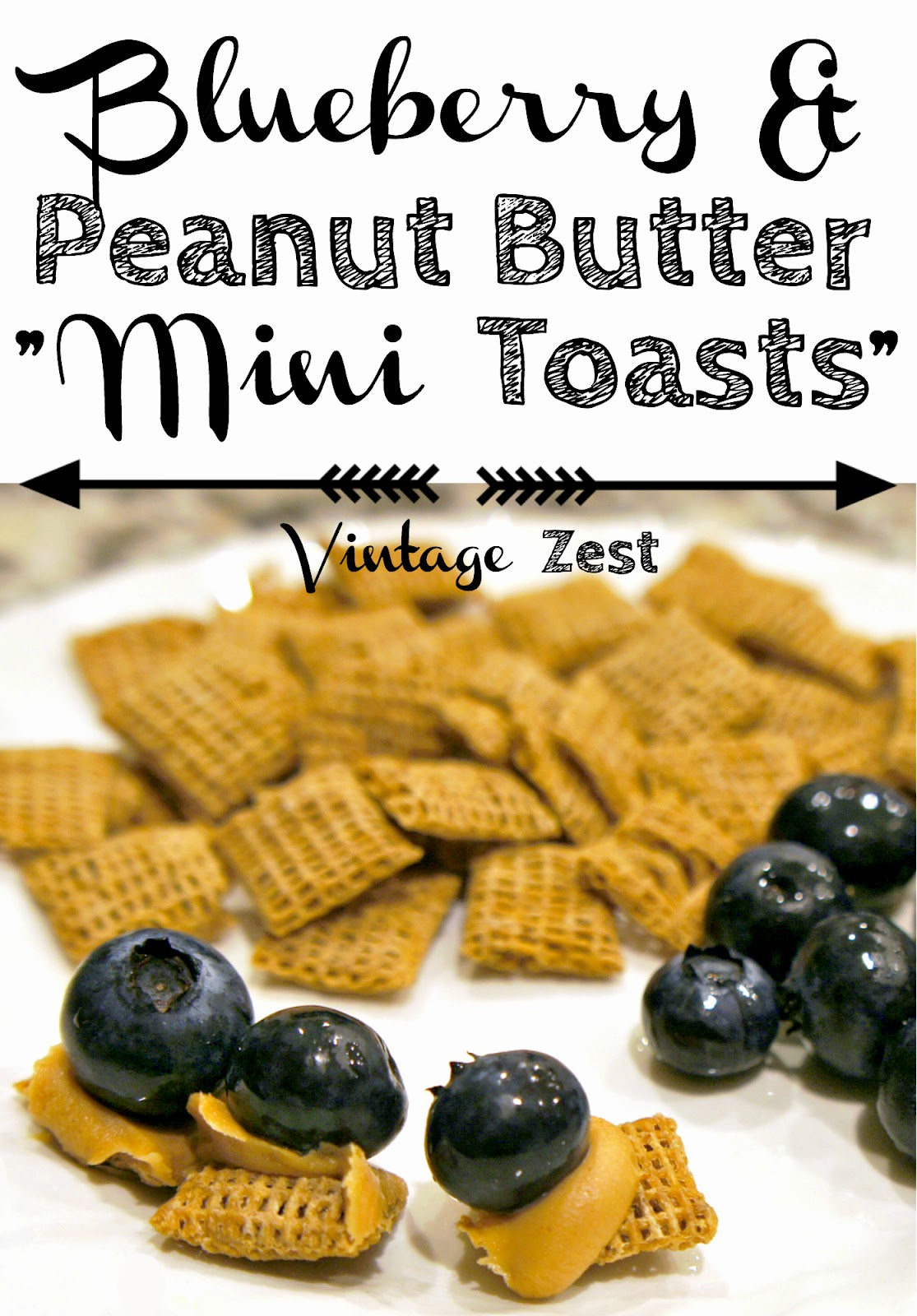 Blueberry and Peanut Butter Mini Toasts on Diane's Vintage Zest! #recipe #snack ##LittleChanges, #IC #ad