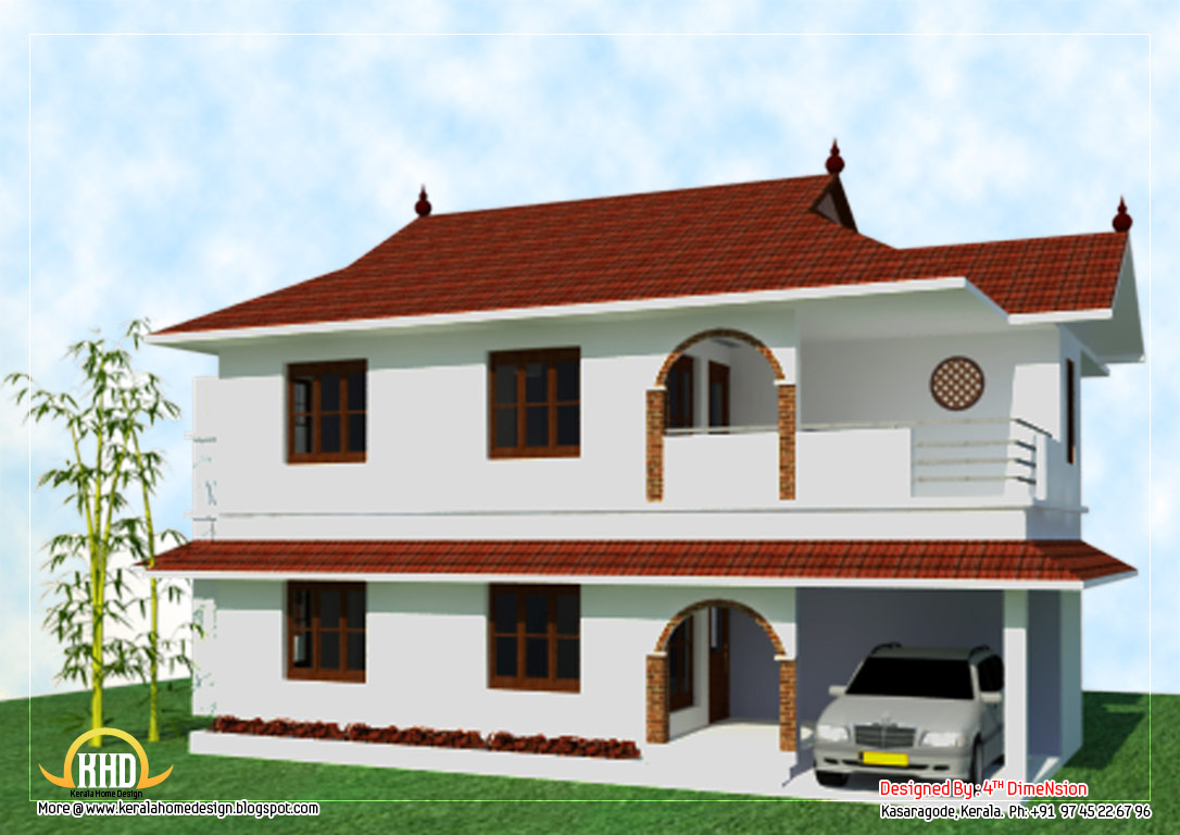 2 story home elevation 2096 sq ft kerala home design