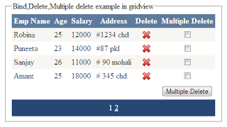 Bind ,Delete,Multiple deletion using checkboxcontrol from gridview in asp.net