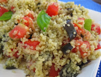 Cuscuz Marroquino com Berinjela e Tomate (vegana)