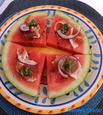 "Watermelon ""pizza"" by Carole's Chatter"