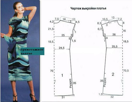 Готовые выкройки платьев для начинающих простые выкройки своими руками