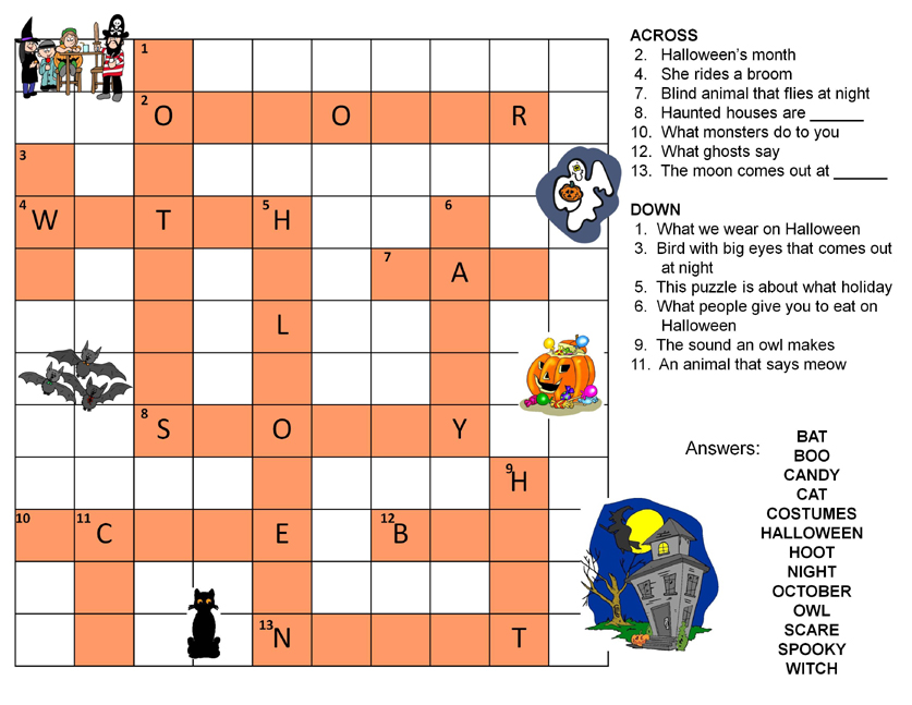 Nonna and Me: Halloween Crossword Puzzle
