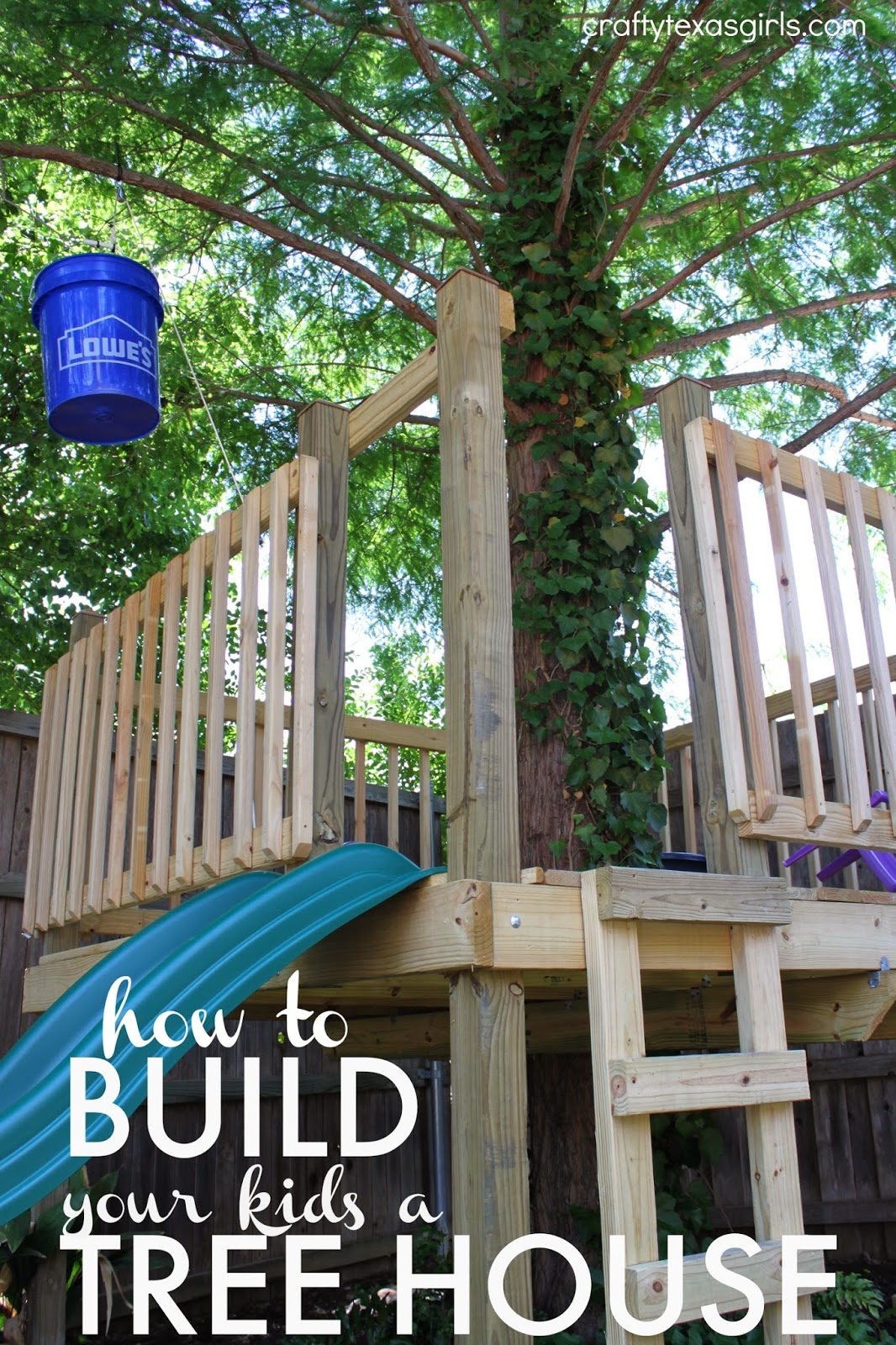 Crafty texas girls build a tree house for Things to include when building a house