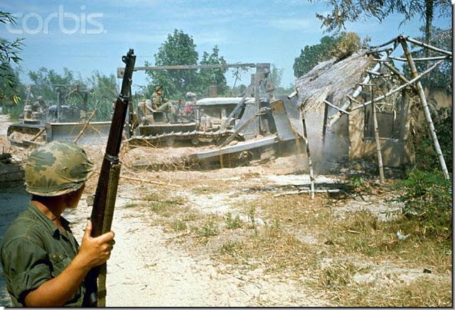 South Korean troops destroy Vietnamese village Bong Son