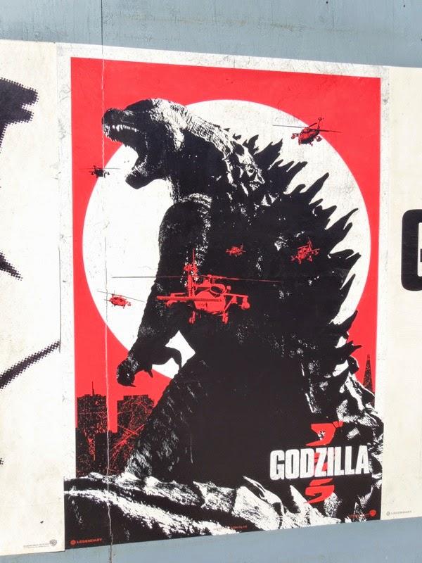 Godzilla remake retro film poster