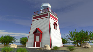 Lighthouse like inFox Point, Newfoundland, Canada - rendered with mentalray