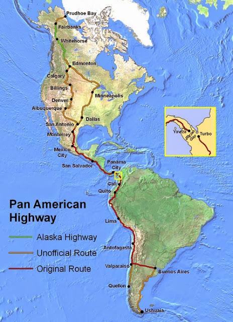 pan%2Bamerican%2Bhwy உலகின் மிக நீளமான சர்வதேச நெடுஞ்சாலை : பேன் அமெரிக்கன் ஹைவே