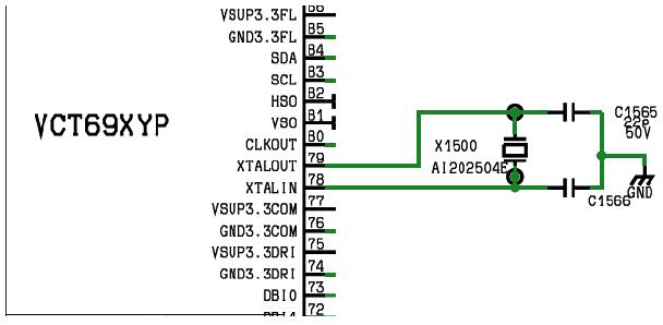 Hình 31 - Thạch anh tạo xung nhịp cho CPU hoạt động