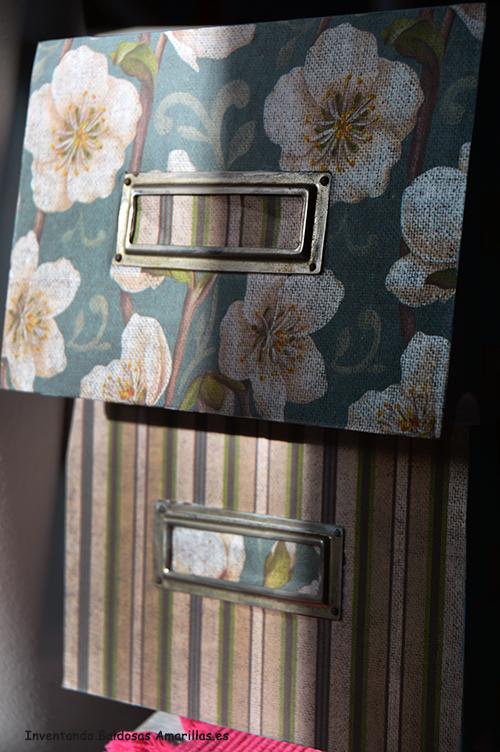 Inventando el finde decorar con papel muebles de madera - Decorar muebles con papel ...