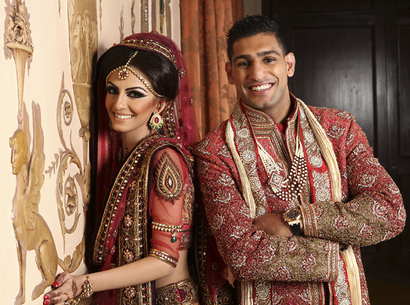 amir khan wedding dress