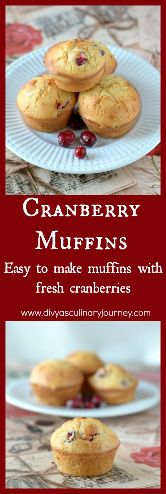 cranberry muffins recipe , muffins with fresh cranberries