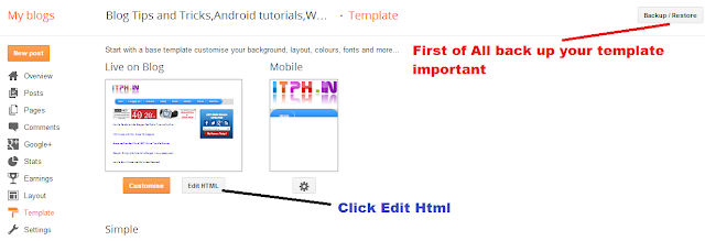 How to add Read More and Show Post Summary option in blogger