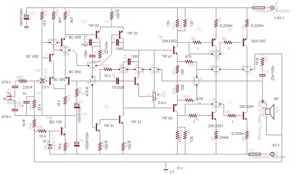 500watt power amplifier circuit