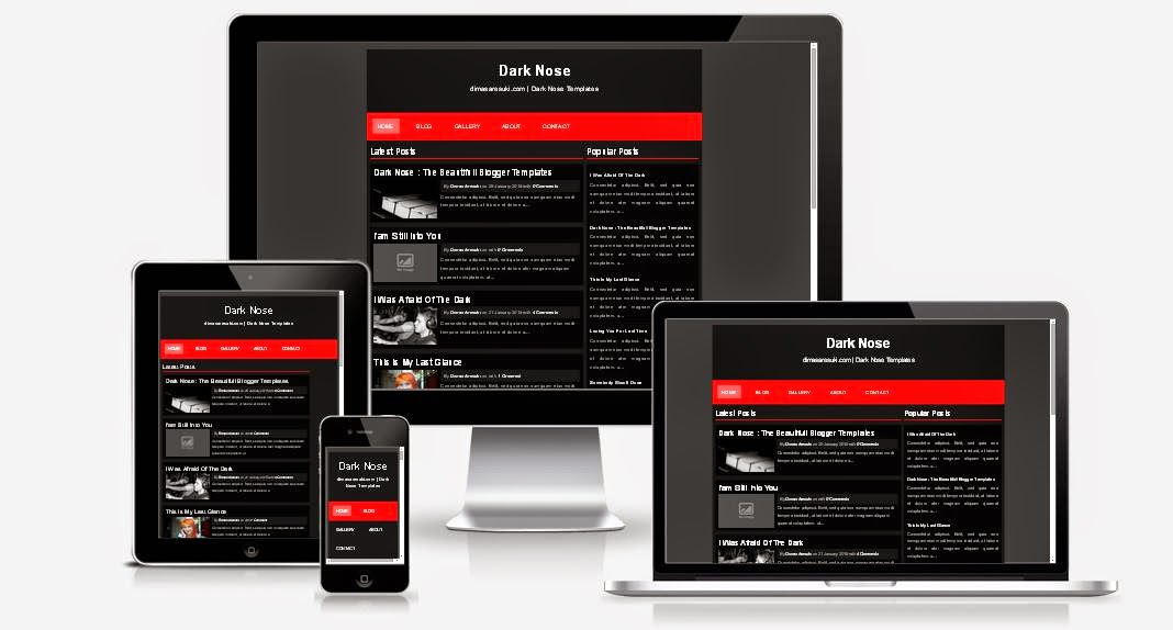 Dark Nose Responsive Blogger Template
