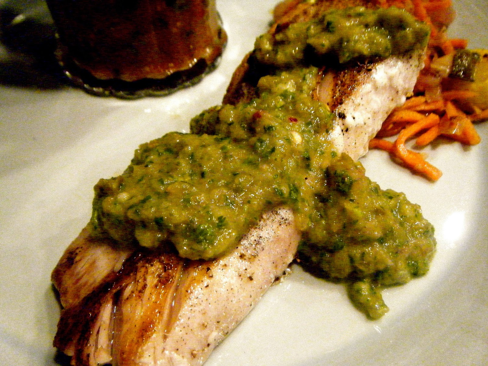 Katie-Kate's Kitchen: Tilapia with Salsa Verde