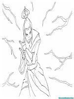 Mewarnai Gambar Jurus Jari Petir Putri Azula