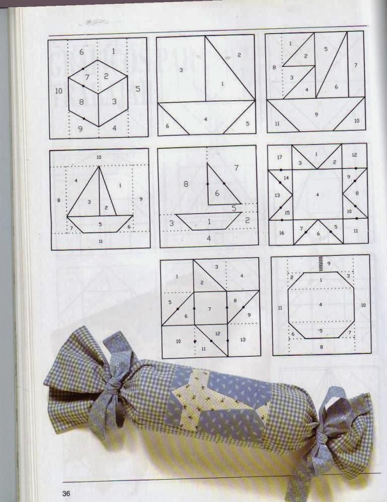Curso de patchwork cursos y tutoriales para manualidades - Patrones casas patchwork ...