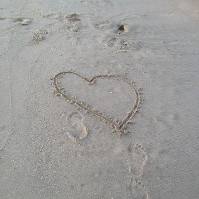 Love Hearts In The Sand